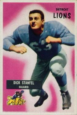 1955 Bowman #36 Dick Stanfel RC