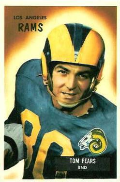 1955 Bowman #43 Tom Fears