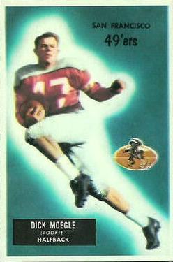 1955 Bowman #48 Dick Moegle RC