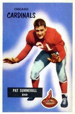 1955 Bowman #52 Pat Summerall RC