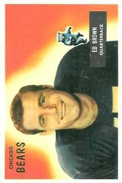 1955 Bowman #53 Ed Brown RC