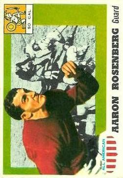 1955 Topps All American #13 Aaron Rosenberg