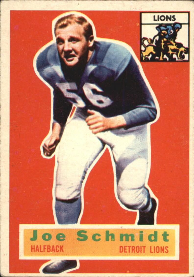 1956 Topps #44 Joe Schmidt RC