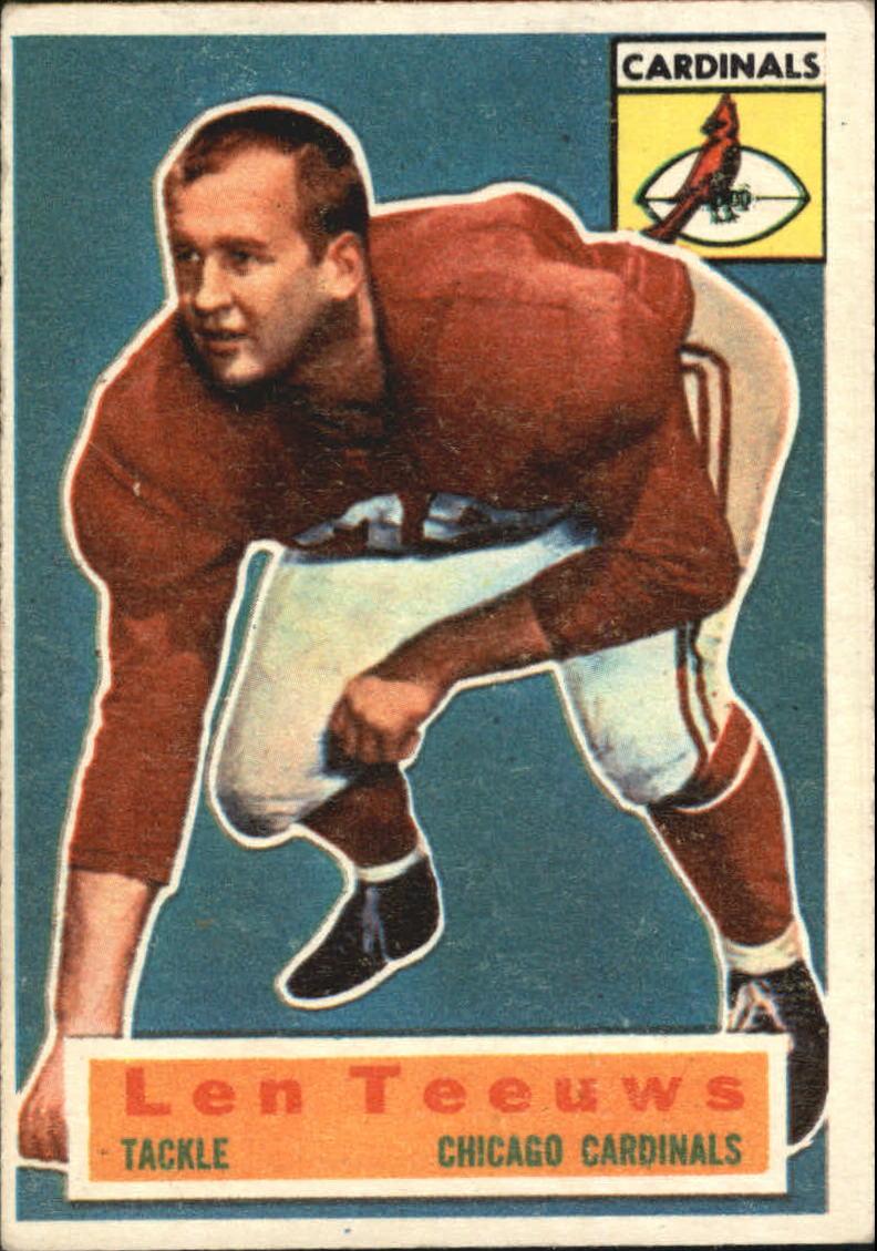 1956 Topps #46 Len Teeuws SP RC