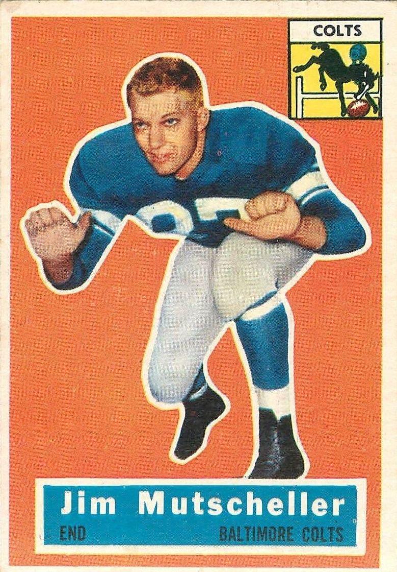 1956 Topps #72 Jim Mutscheller RC