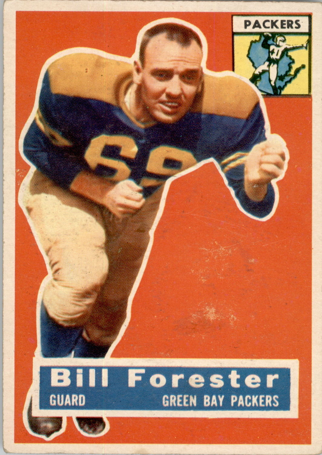 1956 Topps #79 Bill Forester RC