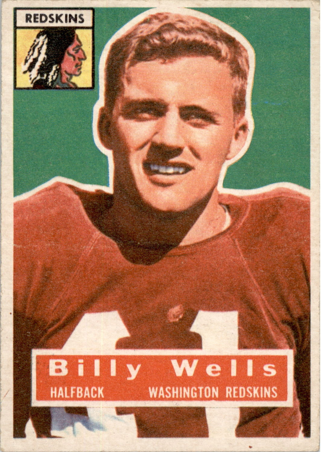 1956 Topps #97 Billy Wells SP RC