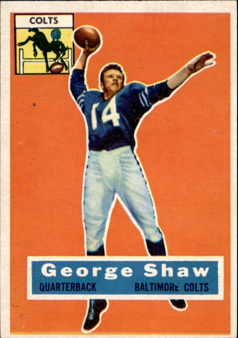 1956 Topps #108 George Shaw RC