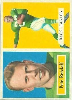 1957 Topps #2 Pete Retzlaff RC