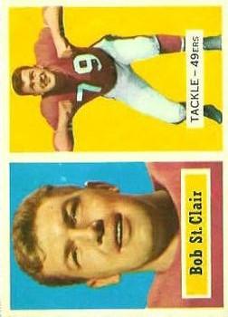 1957 Topps #18 Bob St. Clair