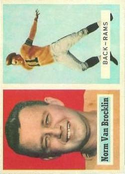 1957 Topps #22 Norm Van Brocklin
