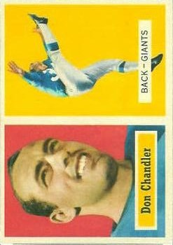 1957 Topps #23 Don Chandler RC