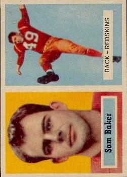 1957 Topps #72 Sam Baker RC