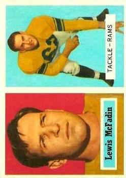 1957 Topps #108 Bud McFadin RC