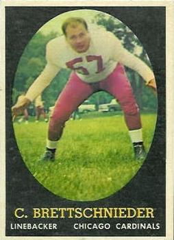 1958 Topps #28 Carl Brettschneider RC