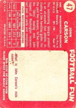 1958 Topps #47 Johnny Carson back image