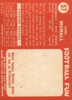 1958 Topps #57 Earl Morrall back image
