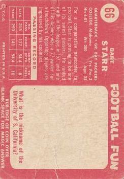 1958 Topps #66 Bart Starr UER back image