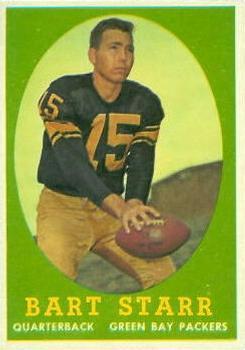 1958 Topps #66 Bart Starr UER