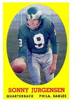 1958 Topps #90 Sonny Jurgensen RC