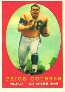 1958 Topps #92 Paige Cothren RC
