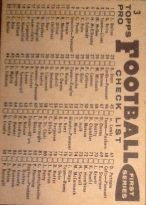 1959 Topps #3 Detroit Lions CL back image