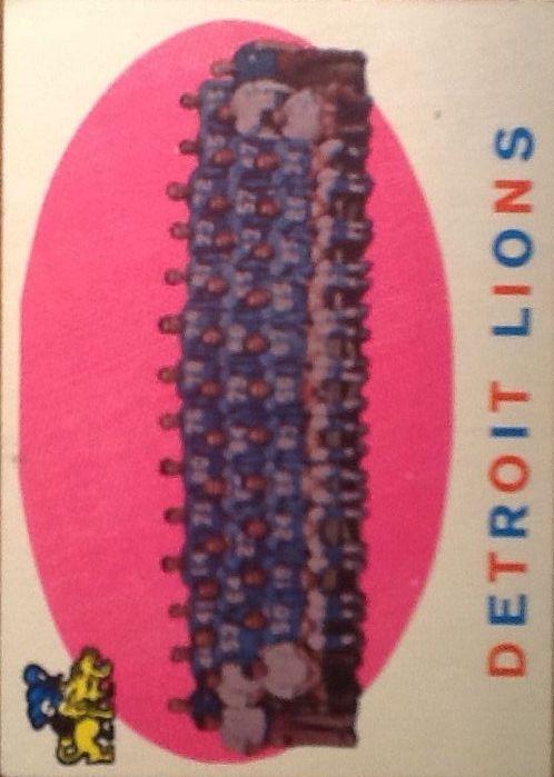1959 Topps #3 Detroit Lions CL