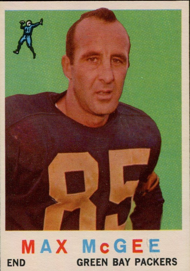 1959 Topps #4 Max McGee RC