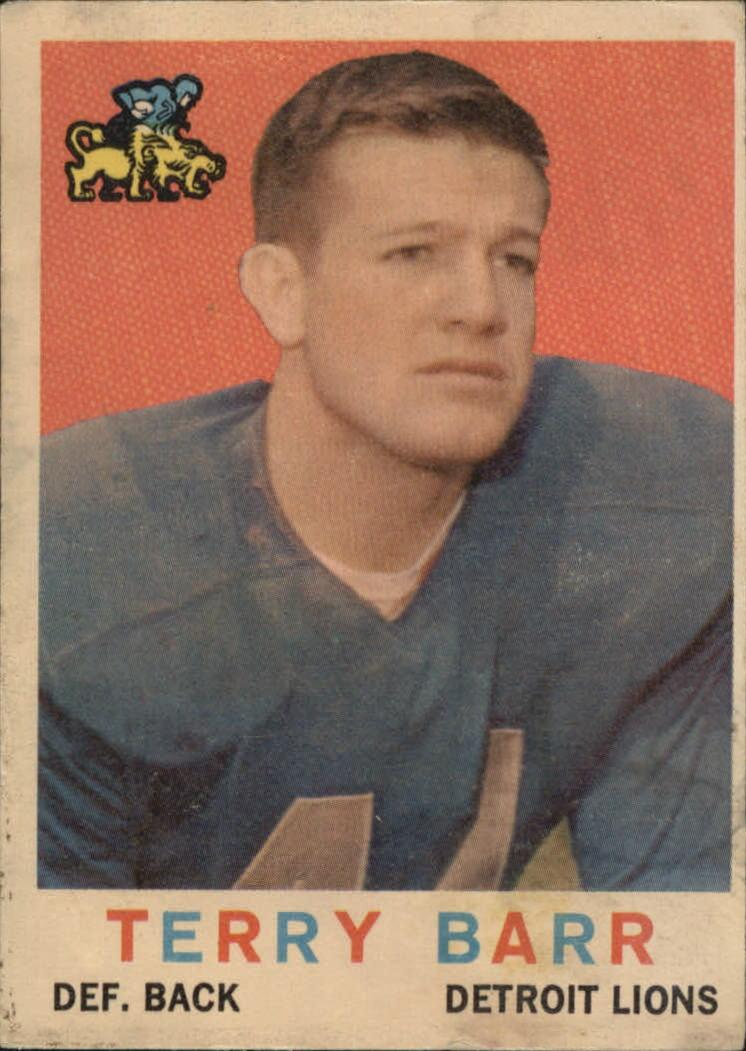 1959 Topps #14 Terry Barr RC