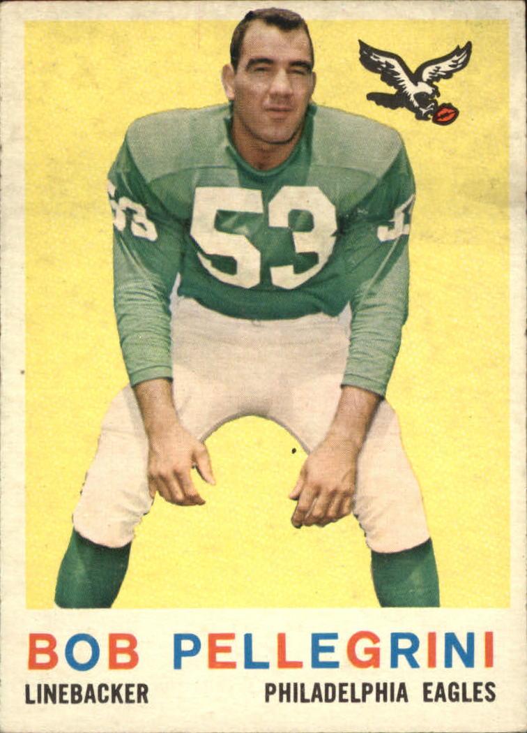 1959 Topps #16 Bob Pellegrini UER