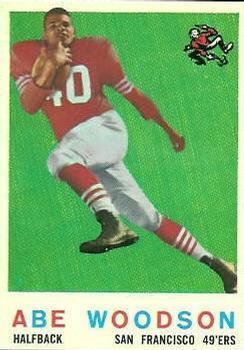 1959 Topps #102 Abe Woodson RC