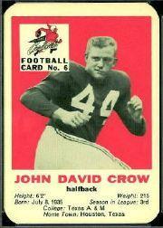 1960 Cardinals Mayrose Franks #6 John David Crow