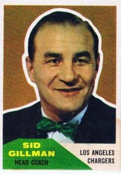 1960 Fleer #7 Sid Gillman CO RC