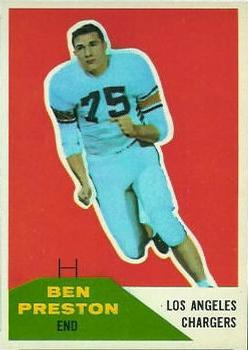 1960 Fleer #8 Ben Preston RC
