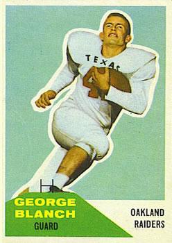1960 Fleer #9 George Blanch RC