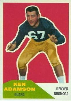 1960 Fleer #33 Ken Adamson RC