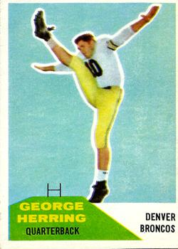 1960 Fleer #46 George Herring RC