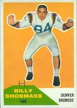 1960 Fleer #74 Billy Shoemake RC