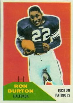 1960 Fleer #130 Ron Burton RC