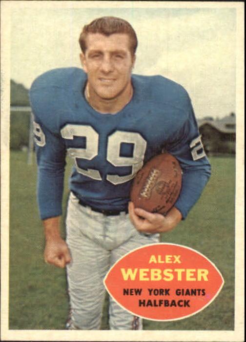 1960 Topps #75 Alex Webster