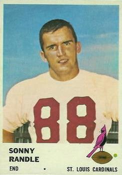 1961 Fleer #24 Sonny Randle RC