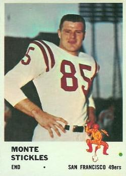 1961 Fleer #62 Monty Stickles RC