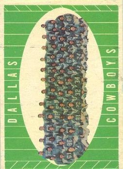 1961 Topps #28 Cowboys Team