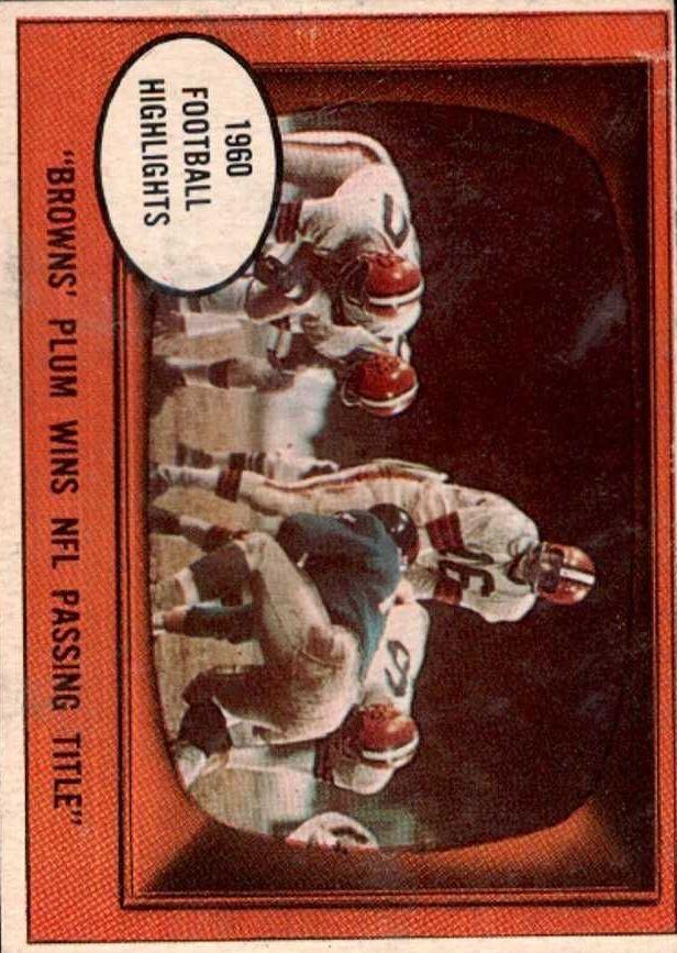 1961 Topps #132 Milt Plum IA !