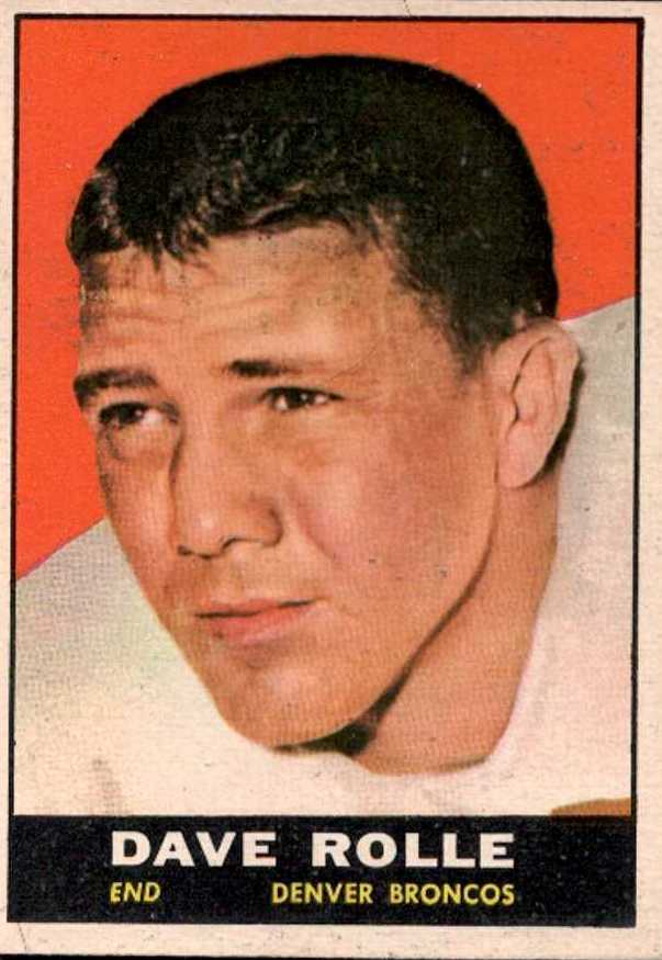 1961 Topps #197 Dave Rolle UER RC