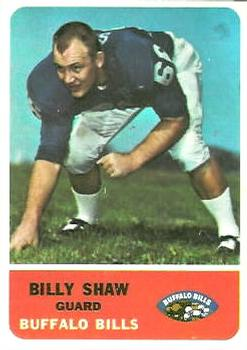 1962 Fleer #16 Billy Shaw RC