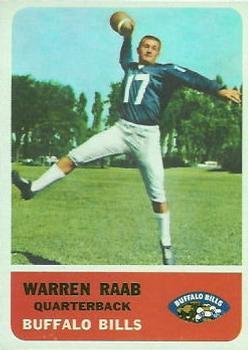 1962 Fleer #22 Warren Rabb RC UER