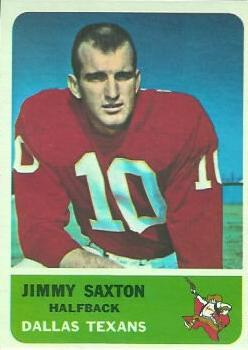 1962 Fleer #26 Jimmy Saxton RC