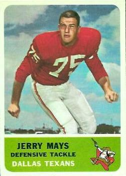1962 Fleer #31 Jerry Mays RC