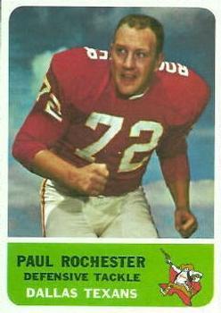 1962 Fleer #33 Paul Rochester RC